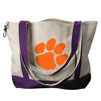 Clemson Tigers Carolina Sewn Medium Canvas Tote