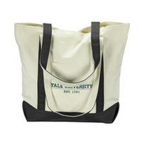 Yale Bulldogs Carolina Sewn Large Canvas Tote