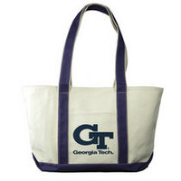 Georgia Tech Carolina Sewn Large Canvas Tote