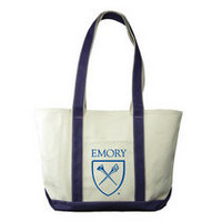 Emory Eagles Carolina Sewn Large Canvas Tote