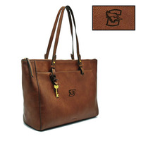 Fossil Leather Rachel Tote  Brown