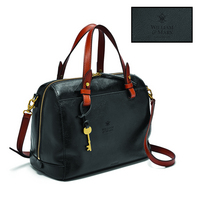 Fossil Leather Rachel Satchel  Black