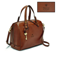 Fossil Leather Rachel Satchel  Brown