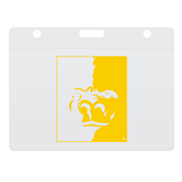 Imprinted Horizontal Thumb Slide ID Holder
