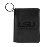 LSU Tigers Carolina Sewn Leather ID Holder