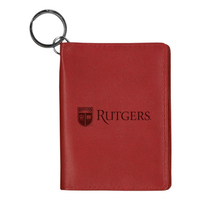 Rutgers Scarlet Knights Carolina Sewn Leather ID Holder