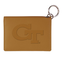 Georgia Tech Carolina Sewn Leather ID Holder