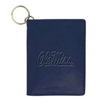 Ole Miss Carolina Sewn Leather ID Holder