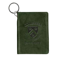 Columbia University Carolina Sewn Leather ID Holder