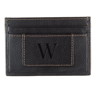 card case leatherBlack