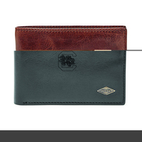 Fossil Leather Ryan RFID Flip ID Bifold  Black