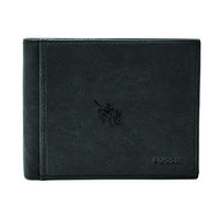 Fossil Leather Ingram RFID Bifold with Flip ID