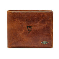Fossil Leather Ryan RFID Passcase  Dark Brown