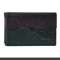 Fossil Leather Neel Money Clip Bifold  Black
