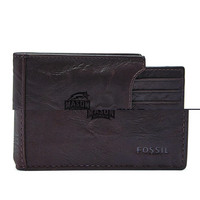 Fossil Leather Neel Money Clip Bifold  Brown