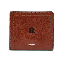 Fossil Leather Logan Small RFID Bifold  Brown