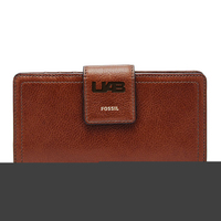 Fossil Leather Logan RFID Tab Clutch  Black