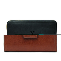 Fossil Leather Logan RFID Tab Clutch  Brown