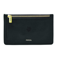 Fossil Leather Logan Card Case  Black