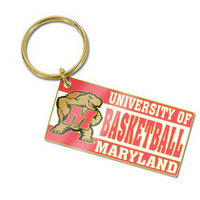 University of Maryland Brass Keychain