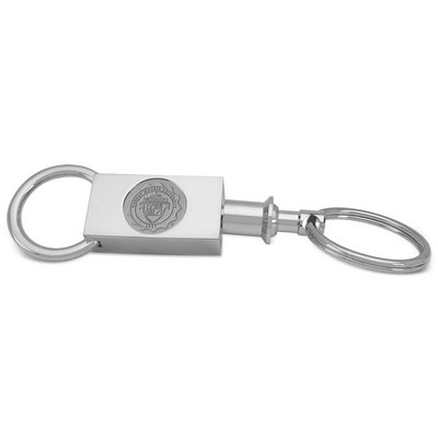 Twosection Silver Key Ring