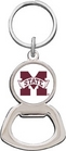 Mississippi State Bulldogs Silver Tone Bottle Opener Keychain