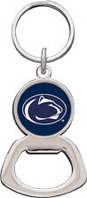 Penn State Nittany Lions Silver Tone Bottle Opener Keychain