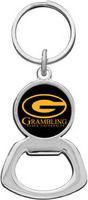 Grambling State Tigers Silver Tone Bottle Opener Keychain