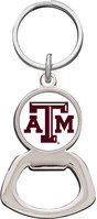 Texas A&M Aggies Silver Tone Bottle Opener Keychain