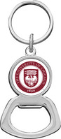 Crystal Coat Round Alumni Bottle Opener Keychain