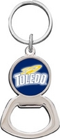 University of Toledo Silver Tone Bottle Opener Keychain