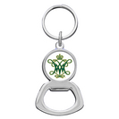 William and Mary Silver Tone Bottle Opener Keychain