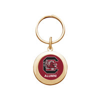 South Carolina Gamecocks Round Keychain