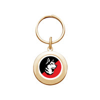Northeastern Huskies Round Keychain