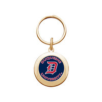 Crystal Coat Round Alumni Key Tag