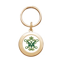 William and Mary Round Keychain