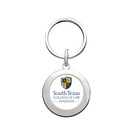 Crystal Coat Round Key Tag