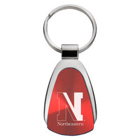 Northeastern Huskies Tear Drop Key Tag