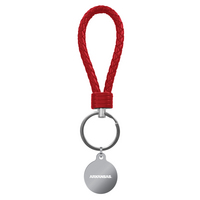 Braided, leather loop color key chain