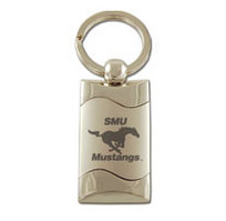 SMU Mustangs Wave Keychain