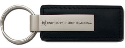 South Carolina Gamecocks Leather Strip Key Tag