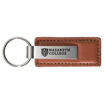 Brown Leather Strap Key Tag