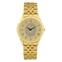 Mens Rolled Link Gold Bracelet Wristwatch