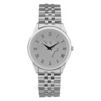 Mens Rolled Link Silver Bracelet Wristwatch