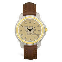 Mens Two Tone brown leather strap Wristwatch