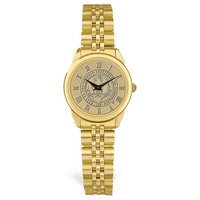 Ladies Rolled Link Gold Bracelet Wristwatch