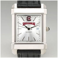 M.LaHart Mens Collegiate Watch with Leather Strap