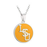 Yellow Interlocking LSU Pendant