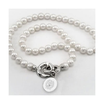 M.LaHart Pearl Necklace with Sterling Silver Charm