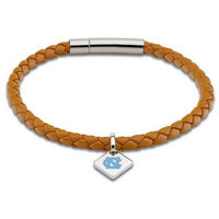 M.LaHart Leather Bracelet with Sterling Silver Tag  Saddle